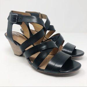 Clarks Ranae Estelle Leather Strappy Sandals Sz 9